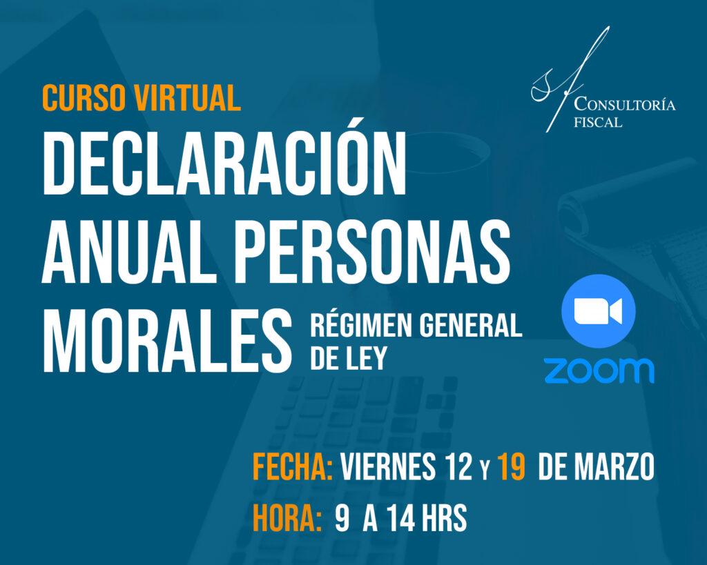 Curso virtual. Personas Morales